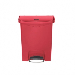 Slim Step-On Bin Front Step 30 ltr Red (Sold Singly)
