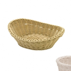Oval Basket Curved Top White (Sold Singly)