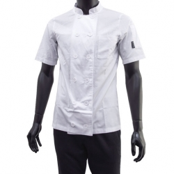 Brigade Chef Clothing Ladies S/S Vent Chefs Jacket White