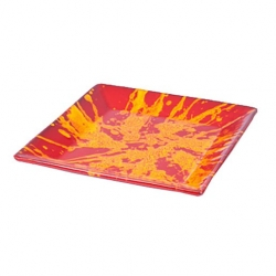 Manoli Speckle Square Platter Red & Yellow Speckle (4 pcs)