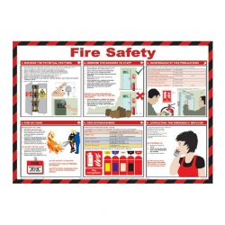 Fire Safety Poster 42x59cm (Sold Singly)