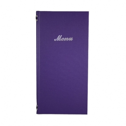 2/3rd A4 Buckram menu 4 card Purple 31.5x15.5cm (Sold Singly)
