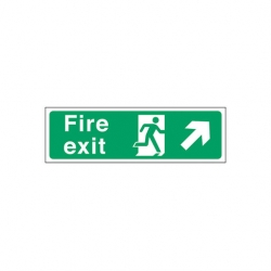 Fire Exit Right Up Arrow Sign (Sold Singly)