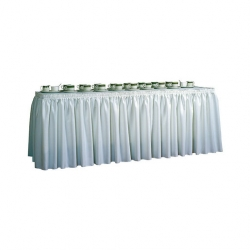 Forbes Group Forbes Table Skirting White 3.7 x 74cm