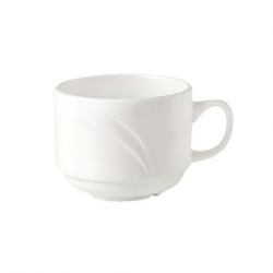 Steelite Alvo Cup White Stackable 8.5cl