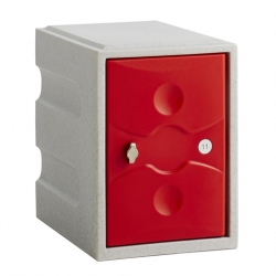 Link 51 1 Door Plastic Locker Grey with Red Door