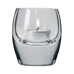Bullet Tealight Holder Clear Glass 8cm High