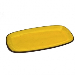 ABS Pottery 35cm x 18cm Rectangular Platter Yellow