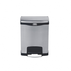 Slim Step-On Bin F/Step S/S 30Ltr Dual Liner (Sold Singly)