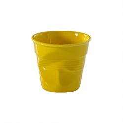 Revol Froisse Porcelain Crumpled Tumbler Yellow 18cl