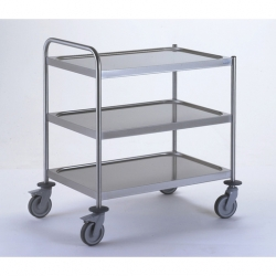 Tournus Equipement Clearing Trolley with 1 Handle - 3 Tray 800x530mm