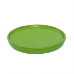ABS Pottery Colourful Terracotta 30cm Platter Green