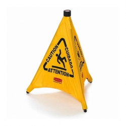 Multilingual Wet Floor Pop-Up Safety Cone (Sold Singly)