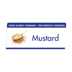 Allergen Buffet Notice Mustard