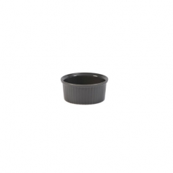 Pillivuyt Classic Pleated Ramekin 90mm 3.5 inch Dark Grey