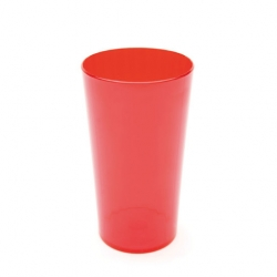280ml (10oz) Fluted Tumbler Translucent Red (Sold Singly)