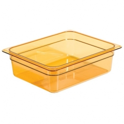 Cambro Gastronorm Container High Heat 1/2 100mm Amber