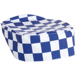 Brigade Chef Clothing Brigade Skull Cap Large Blue & White Check