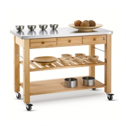 Eddingtons Lambourn 3 Drawer Trolley with Stainless Steel Top
