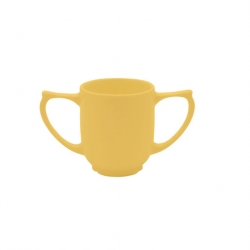Wade Dignity 2 Handled Mug Yellow Ceramic 25cl