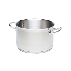 Casserole No Lid S/Steel 5ltr 24cm dia 11cm high (Sold Singly)