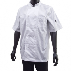 Brigade Chef Clothing Men's S/S Vent Chefs Jacket White