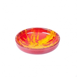 Manoli Speckle 17cm Bowl Red & Yellow Speckle (4 pcs)