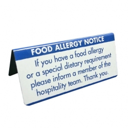 Mileta Allergen Buffet Notice Dietary Requirements
