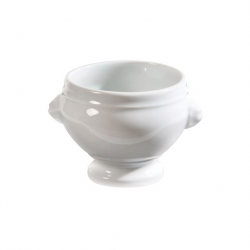 Revol Classic Lions Head Soup Bowl White Covered 45cl