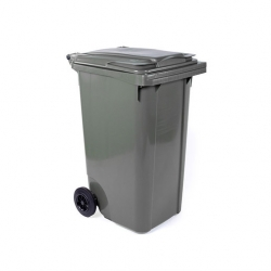 Fletcher European Wheelie Bin Grey 240ltr