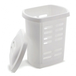 Addis Laundry Hamper White 60L