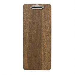 Chalkboards UK Slim Clipboard Small Fixed Clip Dark Oak