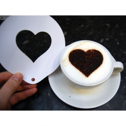 Coffee Stencil Heart Shaped