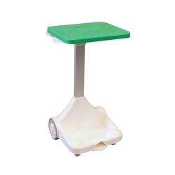 Plastic Sack Holder With Wheels Green Lid (Sold Singly)