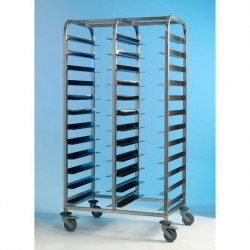 EAIS Tray Clearing Trolley S/S Frame 2 x 12 Tray