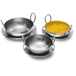 Signature Collection Balti Pan Stainless Steel 16.5cm