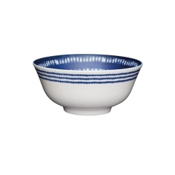 Blue and White Greek Style Ceramic Bowls (4 pcs)