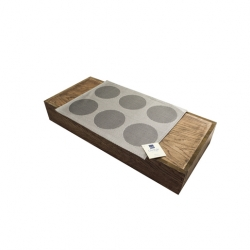 Table Mat Silver Spots Vinyl Oblong 30 x 40cm (12 pcs)