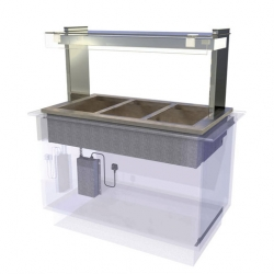CED Fabrications CED Kubus Dry Heat Bain Marie - 3/1 GN