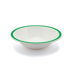 Harfield Duo Bowl Stone Rim Emerald Green 17cm Polycarb