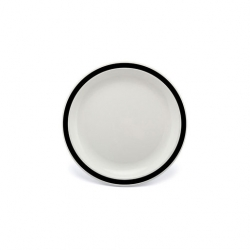 Harfield Duo Plate Narrow Rim Black 17cm Polycarbonate