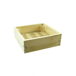 Square Bamboo Steamer Base 8 Inch