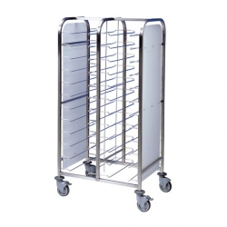EAIS Tray Clearing Trolley Painted Frame 2 x 12 Tray