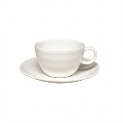 Essence Breakfast Cup Saucer For B9382 White 17.5cm (6 pcs)
