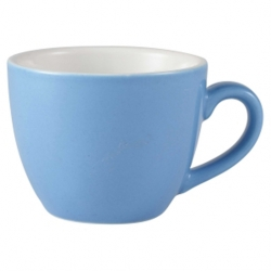 Royal Genware Bowl Shaped Cup 9cl Blue