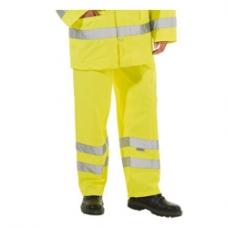 Keep Safe Hi-Vis Yellow Waterproof Overtrousers