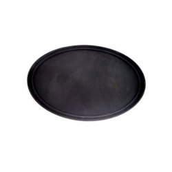 Black Tray Oval 68.5 x 56cm Anti Slip (Sold Singly)