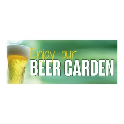 Beer Garden PVC Banner Large 2000x800mm (Sold Singly)
