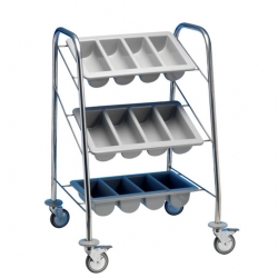 EAIS Cutlery Trolley 3 Containers Painted Frame