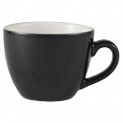 Royal Genware Bowl Shaped Cup 9cl Black